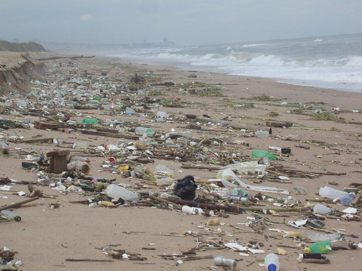 Research plastic pollution in water