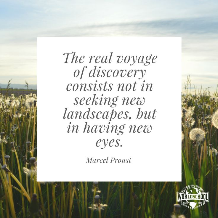 The Real Voyage  Journey Discovery Quotes Daily Inspiration WorldSchool