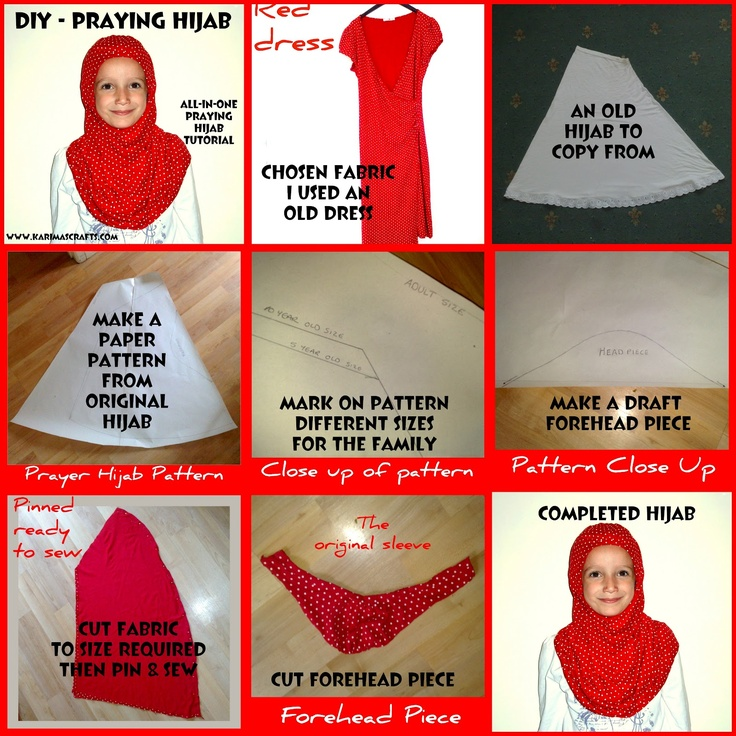 diy praying hijab sewing tutorial - islamic