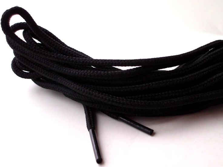 Boot Laces Black 200cm to 320cm Walking Hiking Strong Extra Long Round Bootlaces