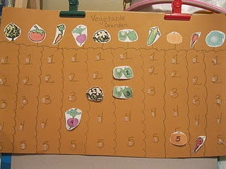 Cute veggie and number matching.