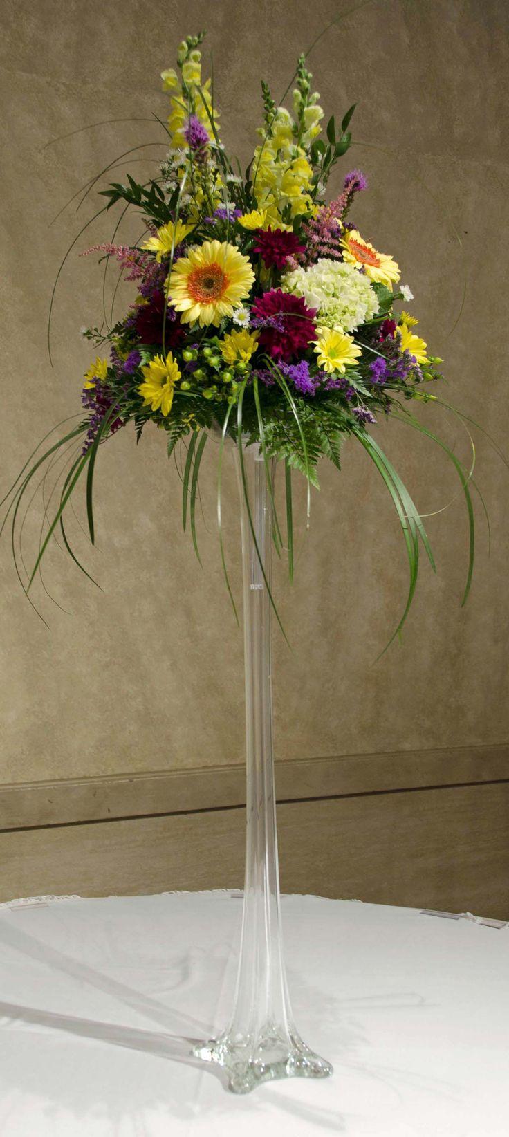 Wedding eiffel tower vase centerpiece reception