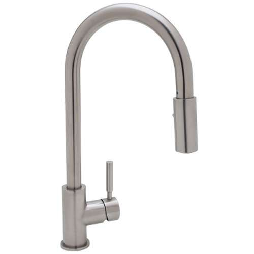 Modern Architectural Side Lever Stainless Steel Pull Down Kitchen Faucet