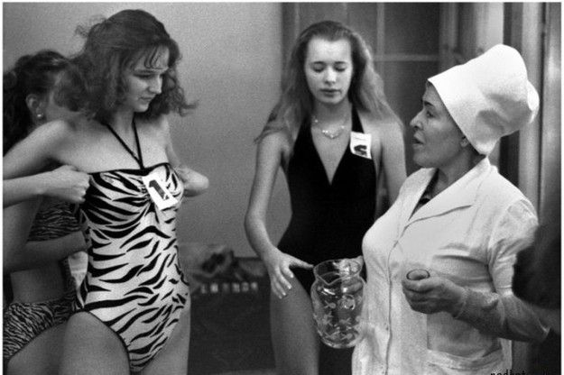 The first beauty contest in the USSR, 1988
