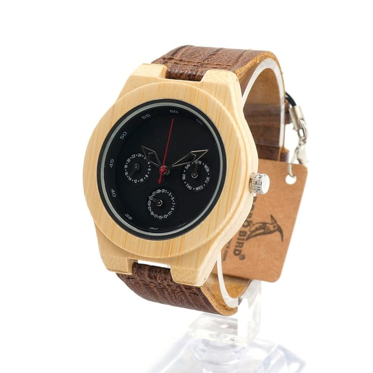 Bamboo Wood Watch Men Soft Cork Leather Band //Price: $58.55 & FREE Shipping //     #stone #trendy