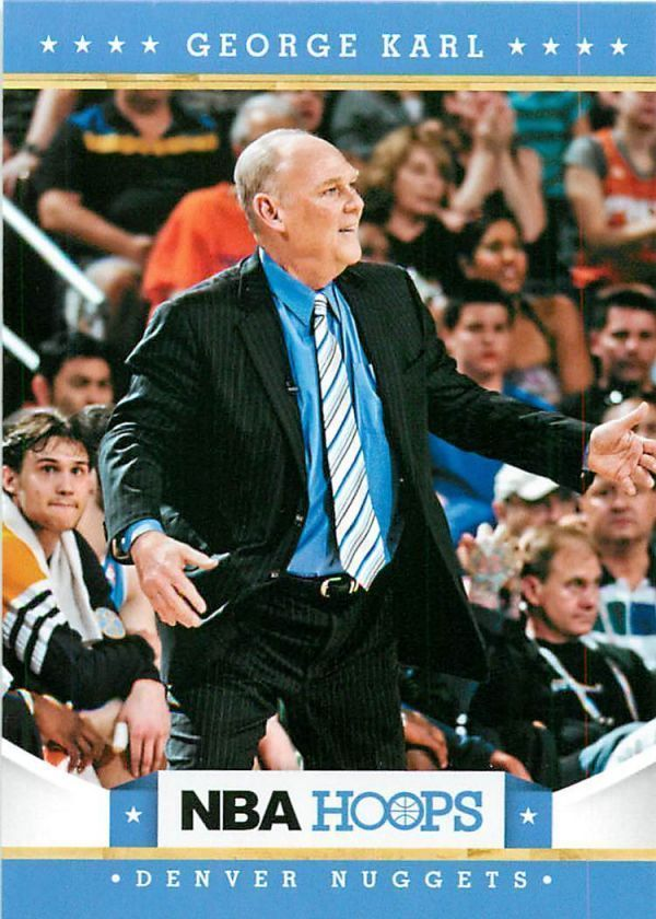 George Karl 2012 NBA Hoops #115 Denver Nuggets North Carolina Tar Heels