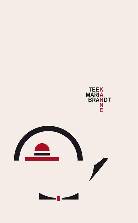 Graphic by Allessia Celentano to depict a Marianne Brandt teapot - Bauhaus Teekanne
