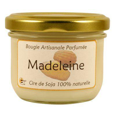 Bougie Parfumée artisanale madeleine - cire de soja 25 heures
