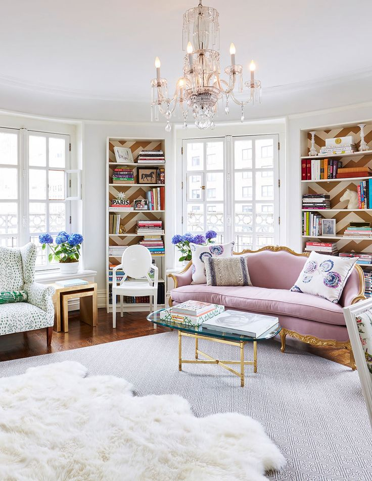 Room of the Week :: Fresh, Feminine & French Living Space