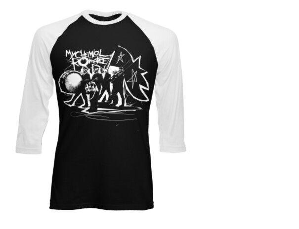 MCR Black Parade Raglan Tee SM/MD http://mychemicalromance.warnerbrosrecords.com/apparel/drumline-raglan.html