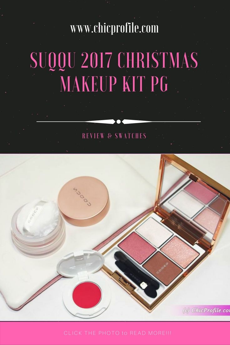 Suqqu 2017 Christmas Makeup Kit PG is one of the two sets released as limited edition last week. The set contains an eyeshadow palette, blush and lipstick. via @Chicprofile