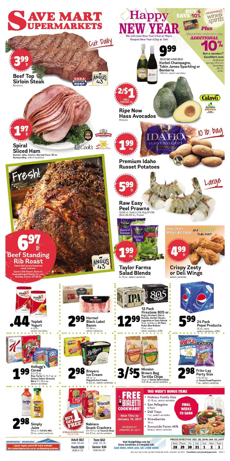 Save Mart Weekly ad December 28 - January 3, 2017 - http://www.olcatalog.com/save-mart/save-mart-weekly-ad.html