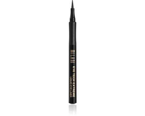 Best Drugstore Liquid Eye Pen: Milani Tech Extreme Liquid Liner. Easier to achieve precise lines than with a brush. Color doesn't smudge or fade.