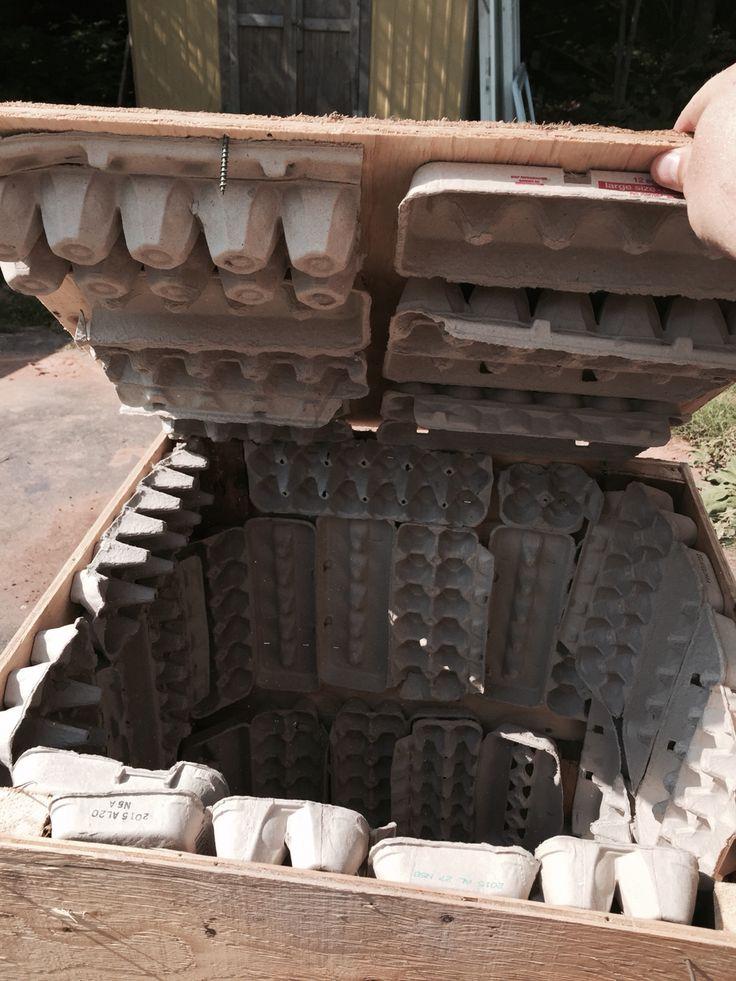 Air compressor box sound proofed