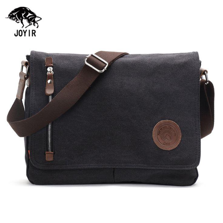 Vintage Men Messenger Bags 2017 School Satchel Canvas Shoulder Bags Black Coffee Travel Bags Handbags Crossbody Bags for Women