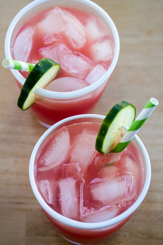 In need of a refresher? Cooling cucumber and sweet watermelon make this Gin Cooler the perfect treat!