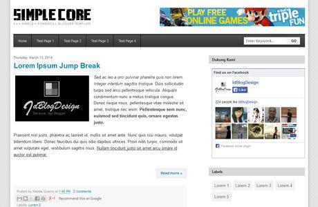 Simple Core Blogger Template