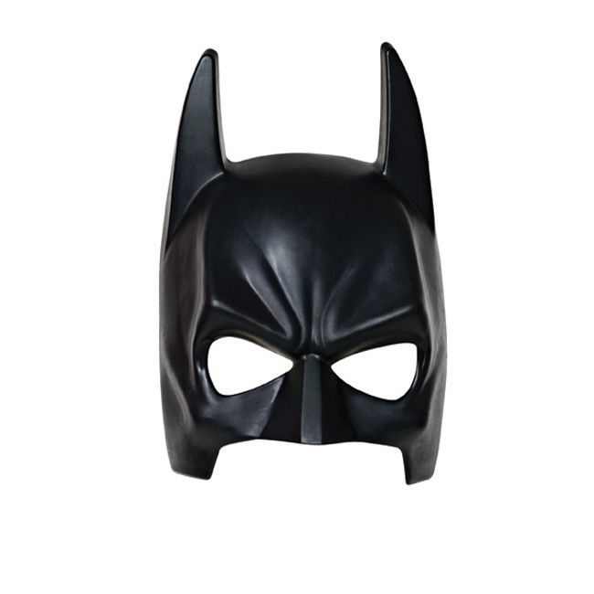 Kids can take on the superhero identity of Bruce Wayne as they battle the Joker in our child Batman mask. From the sequel film to Batman Begins in Nolan's Batman film series, kids will enjoy re-creating their favorite crime-fighting scenes in Gotham City. This injection molded Batman mask covers the front of the face and is secured to the head by an elastic band. This Batman 1/2 Child Mask features bat ears and based off of the one worn in Batman: the Dark Knight.  This is an officially ...