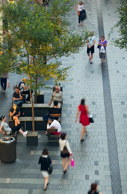 Pitt Street Mall by Tony Caro Architecture. Urban Design Plaza Space