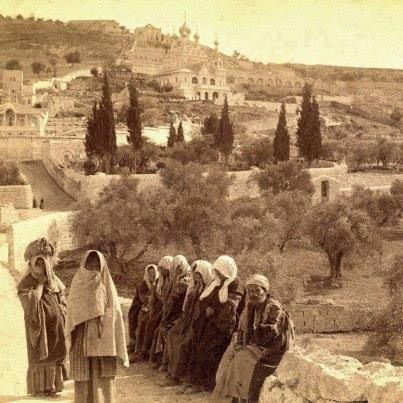 Ottoman & Kudüs & Gethsemane - Jerusalem - the late Ottoman, early 1900's.  The olive trees are visible in the Garden.