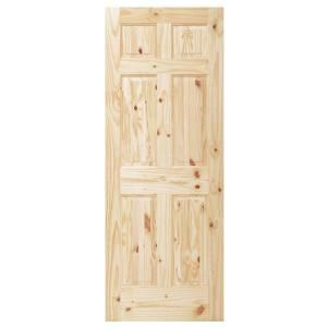 30 In X 80 In Wood Unfinished 6 Panel Slab Door