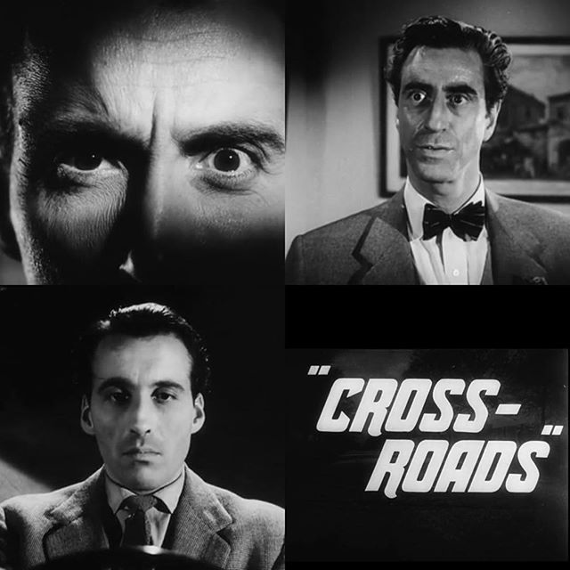 Back from the dead, Christopher Lee seeks revenge on the man he blames for killing his sister. Cross-Roads (1955), simple short film, made watchable by its two leads, Lee and Ferdy Mayne #ChristopherLee #FerdyMayne #CrossRoads #shortfilm #crimedrama #murder #zombie #backfromthedead #crime #drama #carchase #revengemovie #revenge