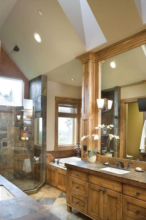 Rustic vanity cabinet plans woodworking projects plans for Master bathroom rustic