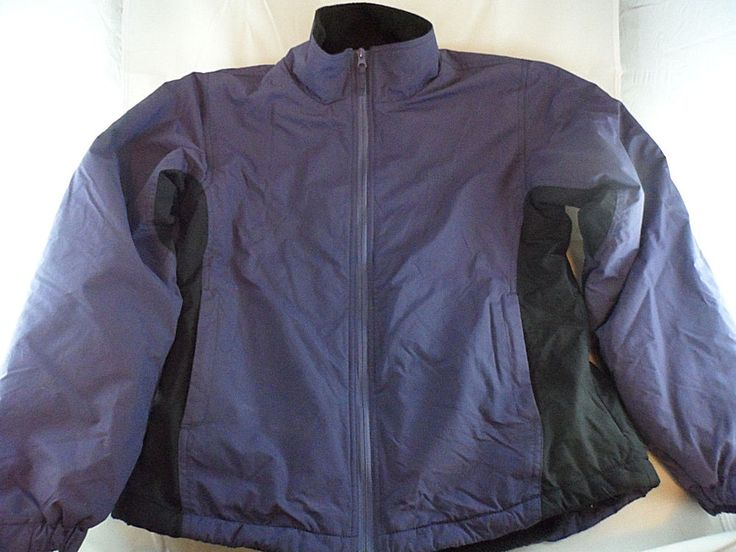 LL Bean Womens Coat Jacket Thinsulate All Weather Purple/Black Size M  #LLBean #BasicCoat