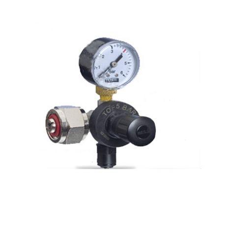 Riduttore di pressione CO2 per bombole ricaricabili - 2 manometri - 7 bar