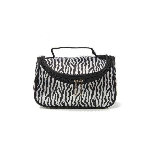 Portable Zebra Polyester Cosmetic Bag Toiletries Handbag With Mirror (7.84 BAM) ❤ liked on Polyvore featuring beauty products, beauty accessories, bags & cases, cosmetic bags & cases, white, wash bag, travel bag, toiletry bag, make up bag and travel kit
