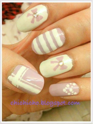 My Fave Color! Purple!!!!   chichicho~ nail art addicts