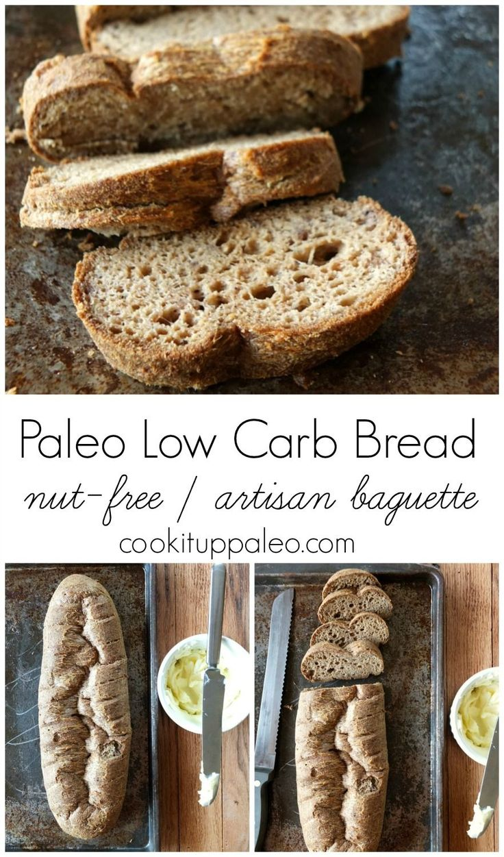 Paleo Low Carb Bread| Cook It Up Paleo [coconut flour and psyllium husk powder]