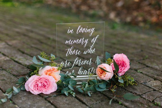 In loving memory sign, acrylic memory sign, lucite memory