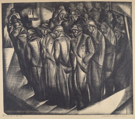 I. Iver Rose (artist)  American, 1899 - 1972  Breadline, 1935 lithograph Reba and Dave Williams Collection, Gift of Reba and Dave Williams  2008.115.4145 (TMS 149252)