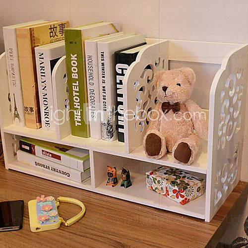 Modelo blanco barroco moderno escritorio Book Shelf - USD $ 38.99