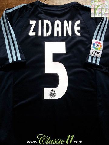 6fbb91325 ... relive zinedine zidanes la liga season with this vintage adidas real  madrid away shirt.