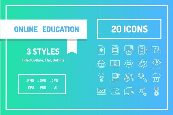 Online Education Icon Set By Berkah Studio Online Education