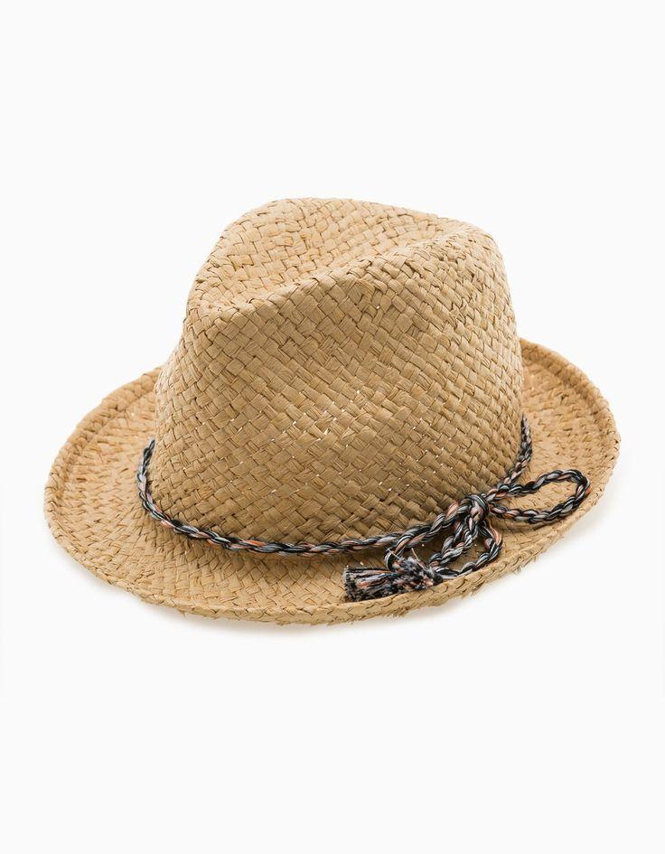 Шляпа-федора с разноцветной деталью