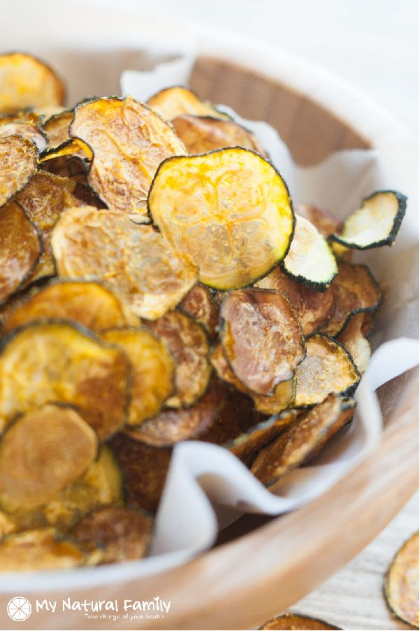 Curried, Baked Zucchini Chips Recipe - change up the curry with another spice
