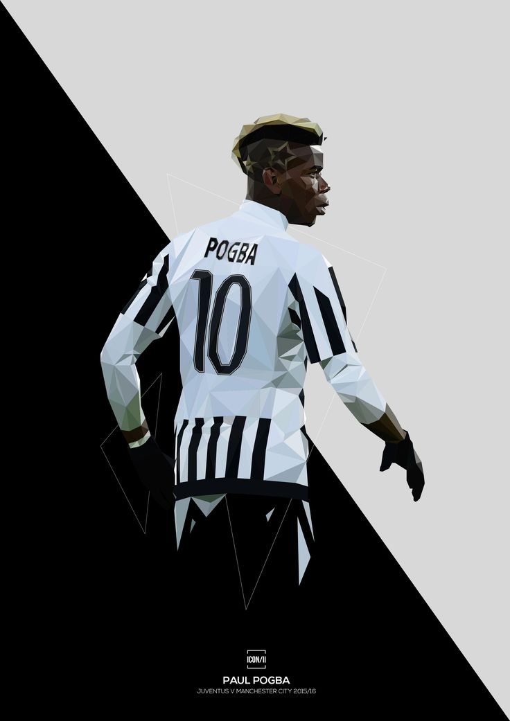 Juventus powerhouse Paul Pogba.High quality full colour print on natural white, matte, ultra smooth archival paper.