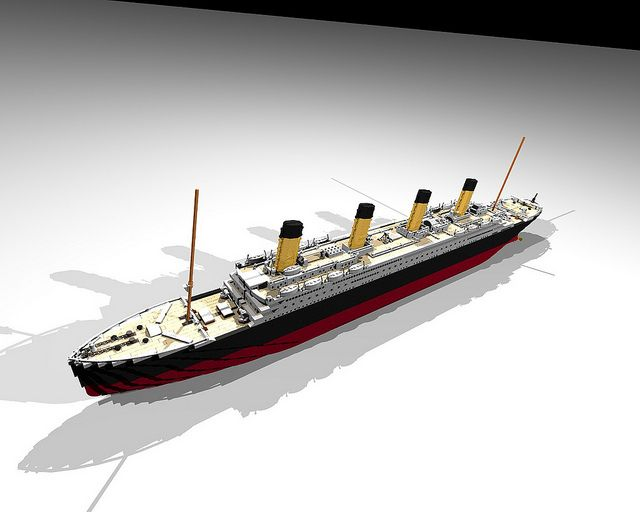mini lego titanic instructions
