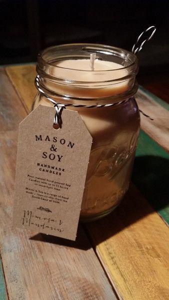 Mason & Soy Handmade Candles - Mason Ball Jar (pint)