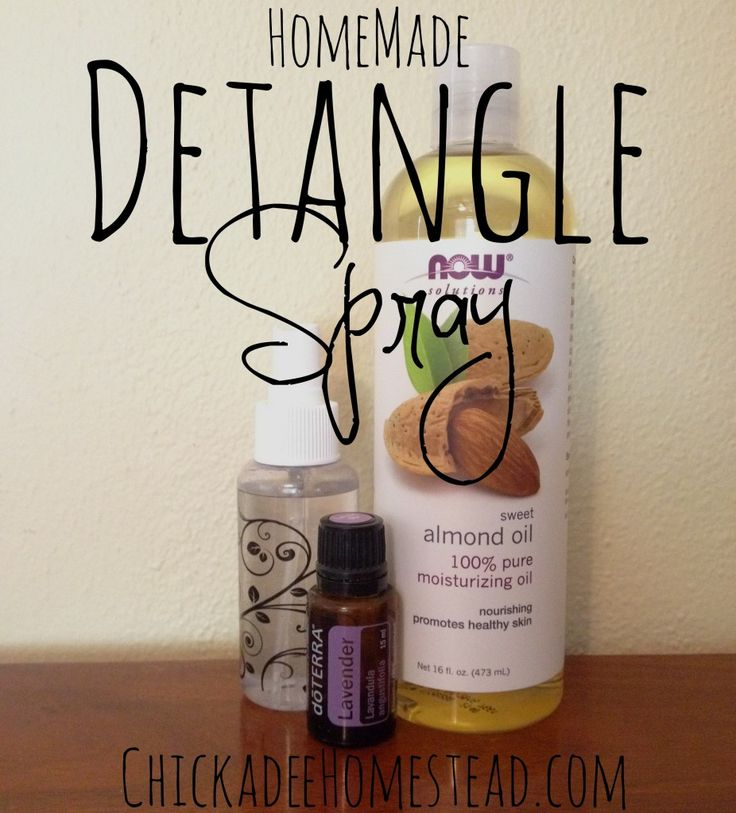 Natural Detangle Spray   Chickadee Homestead