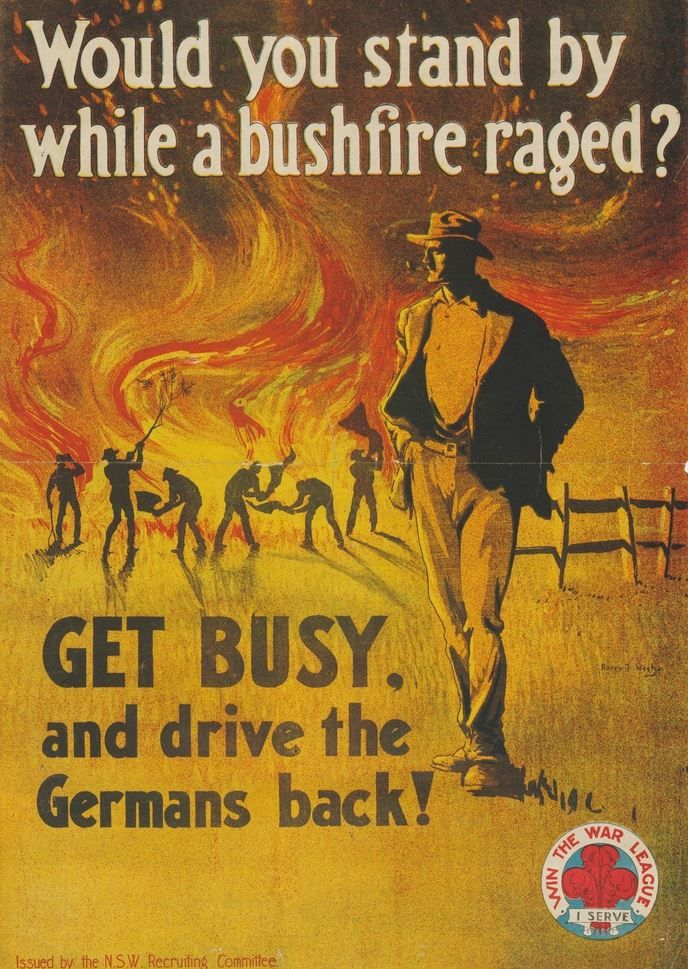 Recruitment poster from WWI.