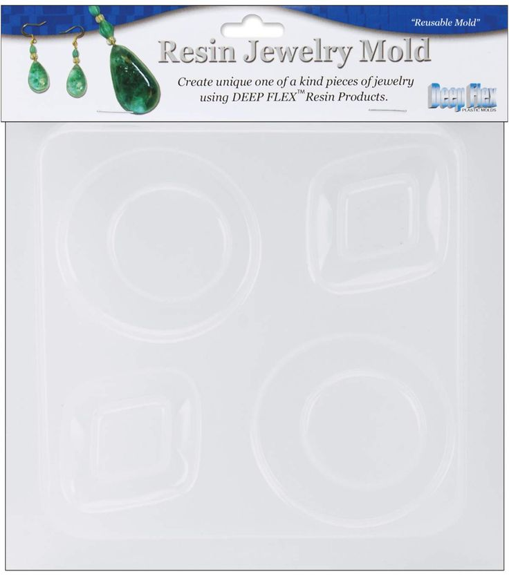 "Yaley Resin Jewelry Reusable Plastic Mold 6.25""x7""-Diamond&Round"