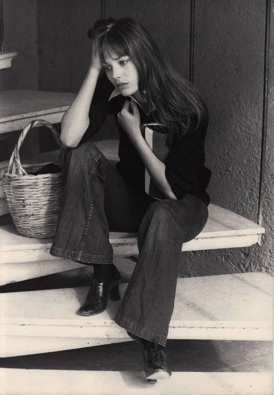 Jane Birkin, c. 1973. Unknown photographer. Gelatin silver