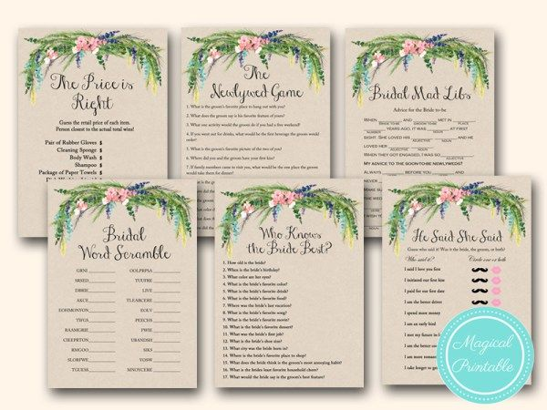 Luau Hawaiian Bridal Shower Games