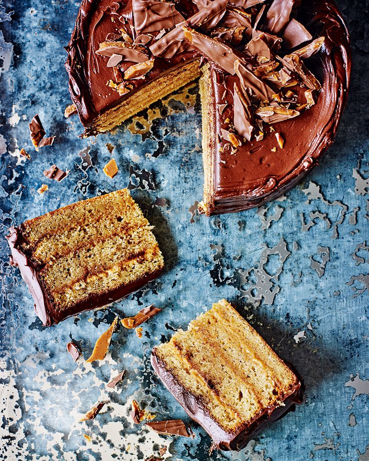 A Daim bar cake layered with toffee and doused in chocolate ganache - it's a Daim good recipe.