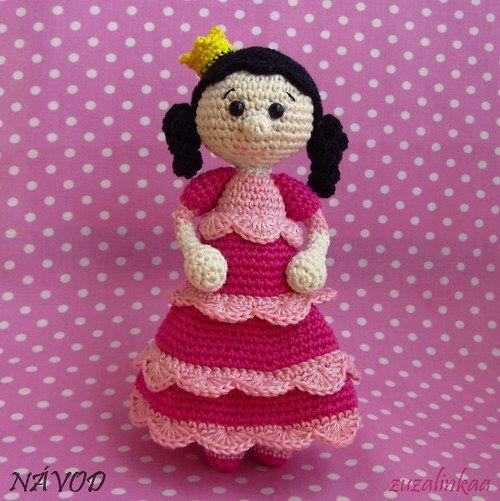 Návod - Princezna I (hračka)Háčkovanou Princeznu, Přehledný Návod, Návod Posílám, Prodejc Zuzalinkaa, Crochet Amigurumi, Velikost Cca, Amigurumi Dolls, Formátu Pdf, Princeznu Hračka