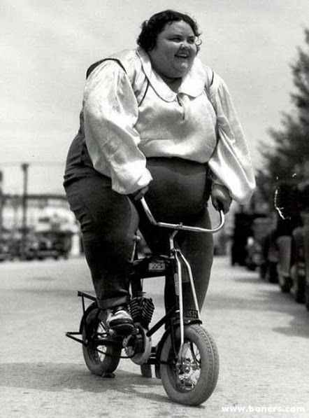 Image result for Fat  woman blocking  bike